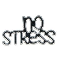 Sticker texte Epoxy argenté - No Stress - 1 pce