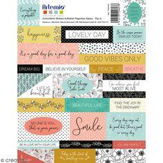 Stickers Artemio textes - Good vibes - 52 pcs