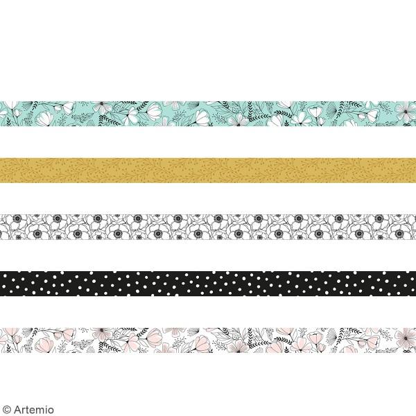 Masking tape Artemio - Good vibes - 15 mm x 5 m - 5 pcs - Photo n°2