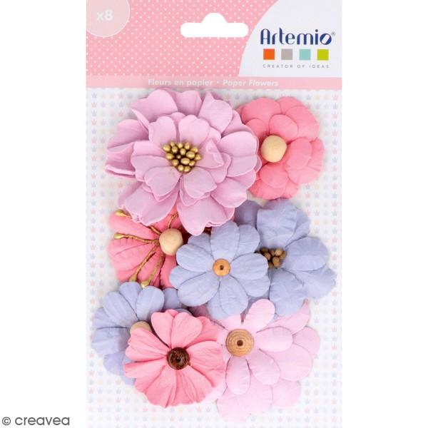 Fleurs en papier Artemio - Lovely Swan - 8 pcs - Photo n°1