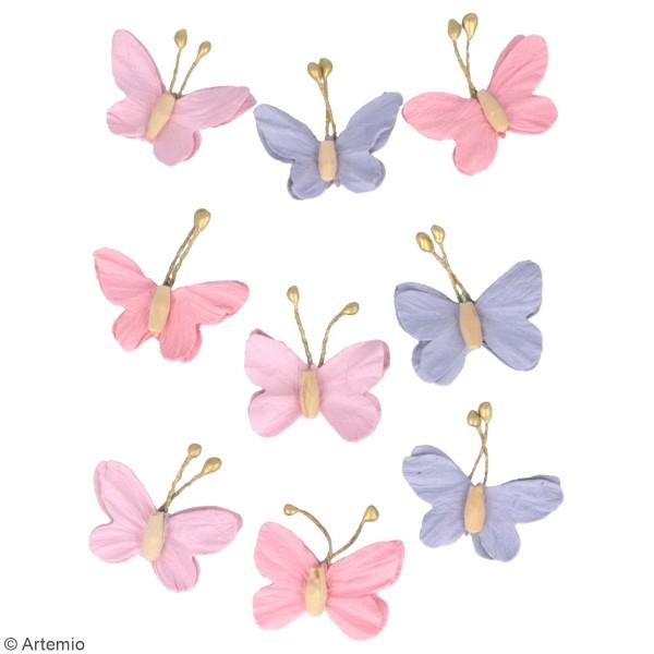 Papillons en papier Artemio - Lovely Swan - 9 pcs - Photo n°2