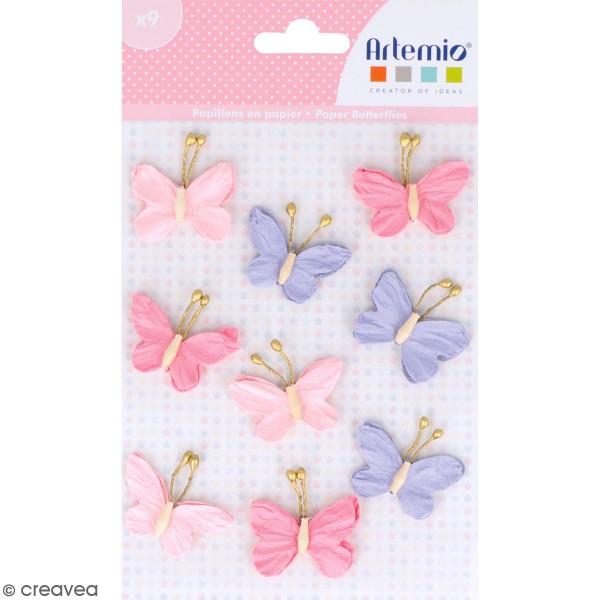 Papillons en papier Artemio - Lovely Swan - 9 pcs - Photo n°1