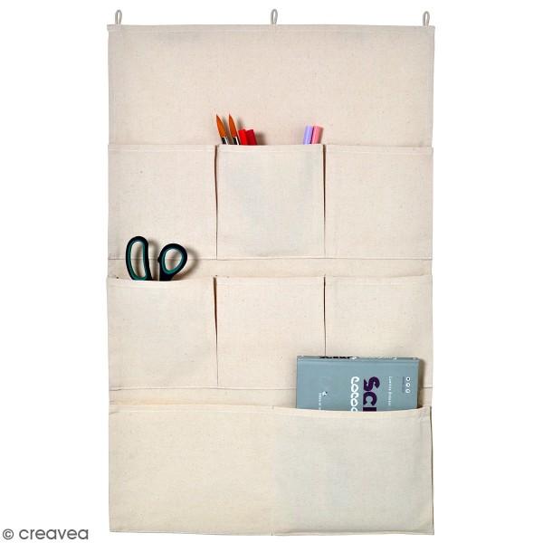 Vide poche mural en tissu - 80 x 50 cm - 8 poches - Photo n°1