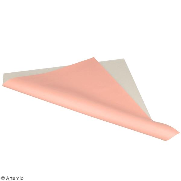 Feuille simili cuir Lovely Swan - Rose clair - 30 x 30 cm - Photo n°2