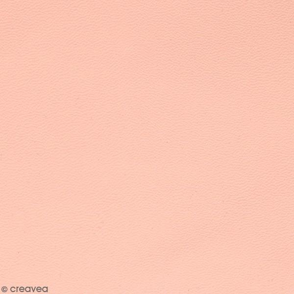 Feuille simili cuir Lovely Swan - Rose clair - 30 x 30 cm - Photo n°1