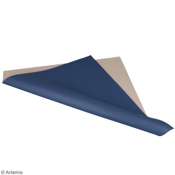 Feuille simili cuir Japan - Bleu foncé - 30 x 30 cm - Photo n°2