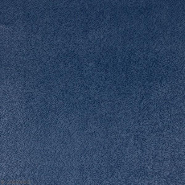 Feuille simili cuir Japan - Bleu foncé - 30 x 30 cm - Photo n°1