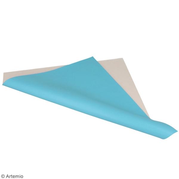 Feuille simili cuir Japan - Bleu clair - 30 x 30 cm - Photo n°2