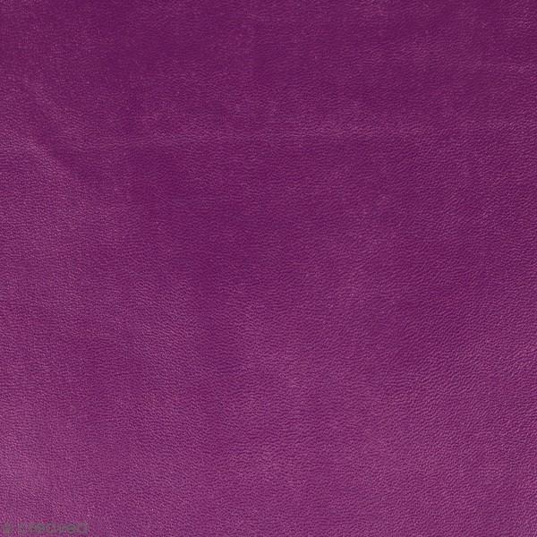 Feuille simili cuir Japan - Mauve foncé - 30 x 30 cm - Photo n°1