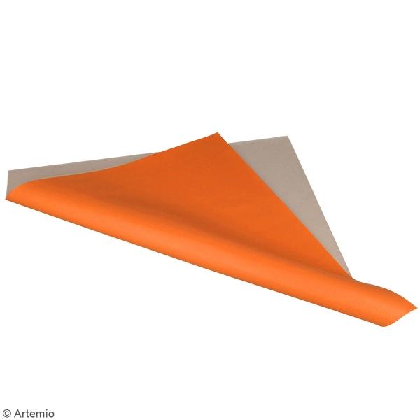 Feuille simili cuir Japan - Orange - 30 x 30 cm - Photo n°2