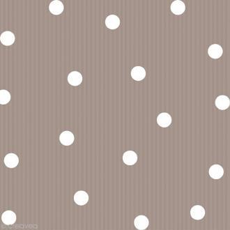 Serviette en papier Pois et rayures - Gris taupe - 20 pcs