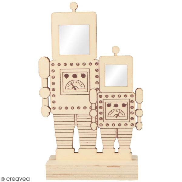 Cadre personnages à décorer - Robots - 12,5 x 18 cm - Photo n°1