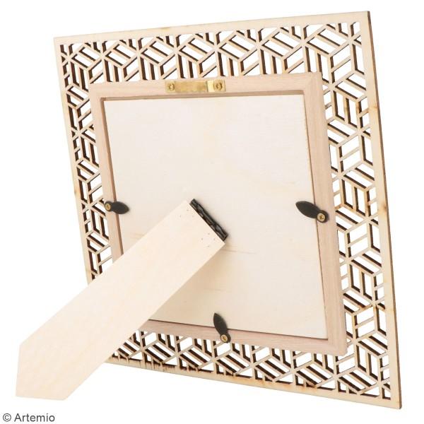 Cadre ajouré en bois - Japan Géométrique - 20 x 20 cm - Photo n°2