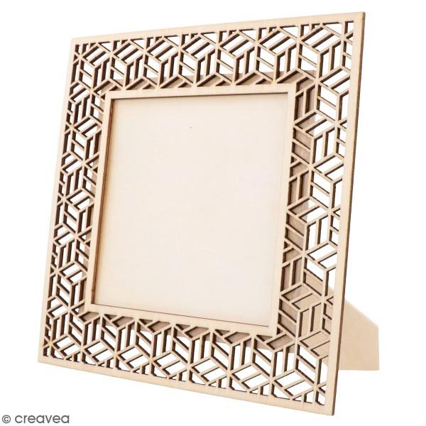 Cadre ajouré en bois - Japan Géométrique - 20 x 20 cm - Photo n°1