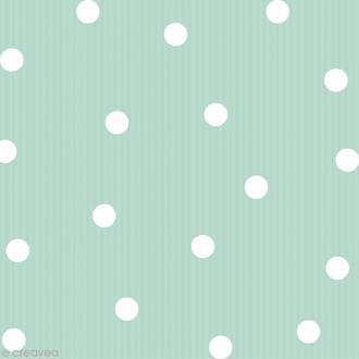 Serviette en papier Pois et rayures - Vert menthe - 20 pcs