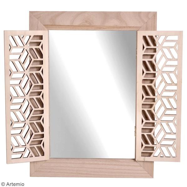 Miroir à portes en bois à décorer - Japan - 30 x 40 cm - Photo n°2