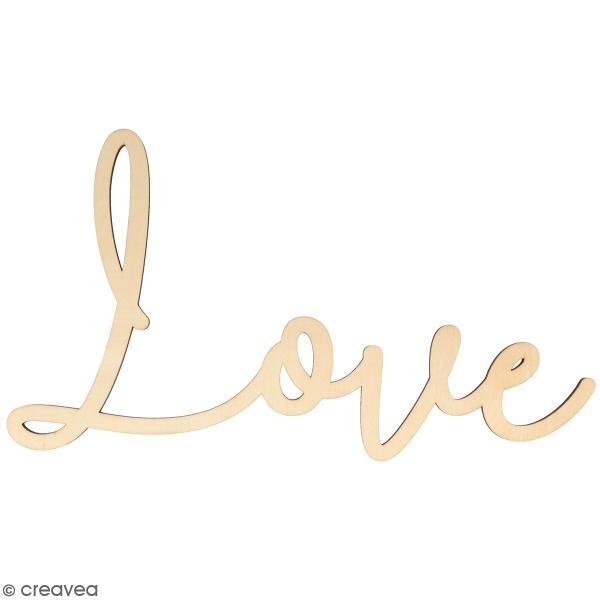 Mot en bois à décorer - Love - 30 x 16,5 cm - Photo n°1