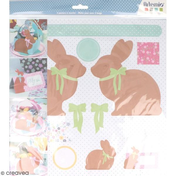 Kit panier en papier à fabriquer - Pâques Chocolat - 3 pcs - Photo n°1