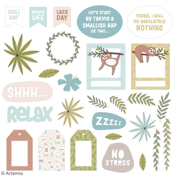 Die cut Artemio - No Stress - 62 pcs - Photo n°3