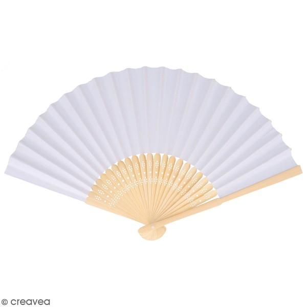 Eventail en papier à décorer - Japan - 21 cm - Photo n°1
