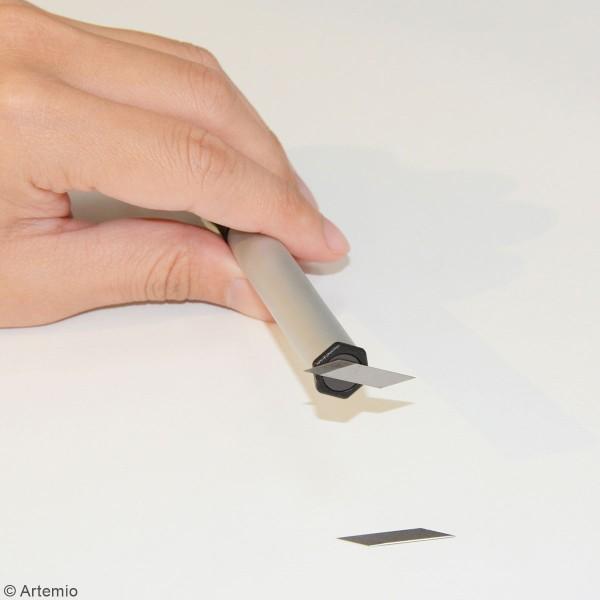 Cutter scalpel de précision et 11 lames de rechange - Photo n°3