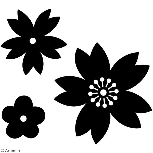 Matrice de coupe Fleurs - Artemio Japan - 2 à 5 cm - 3 pcs - Photo n°2