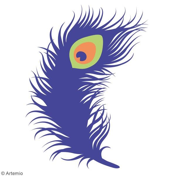 Matrice de coupe Plume de paon - Artemio My Lord - 9 x 13 cm - 1 pce - Photo n°3