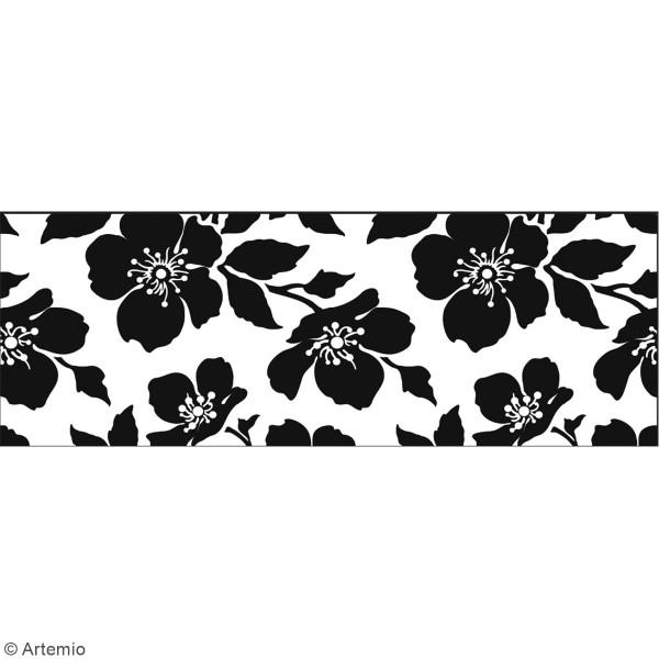 frise murale autocollante fleur 19 cm x 1 25 m stickers muraux divers creavea. Black Bedroom Furniture Sets. Home Design Ideas