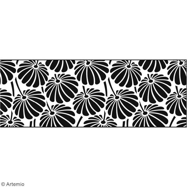 frise murale autocollante fleur g om trique 19 cm x 1 25 m stickers muraux divers creavea. Black Bedroom Furniture Sets. Home Design Ideas