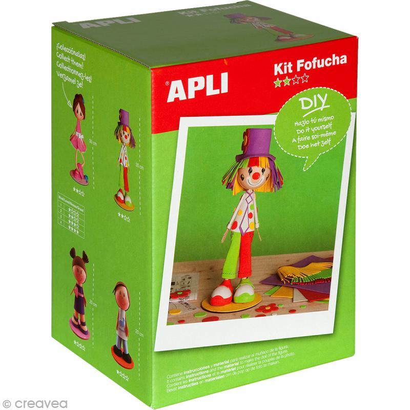 kit feuille de mousse poup e fofucha clown kit fofuchas creavea. Black Bedroom Furniture Sets. Home Design Ideas