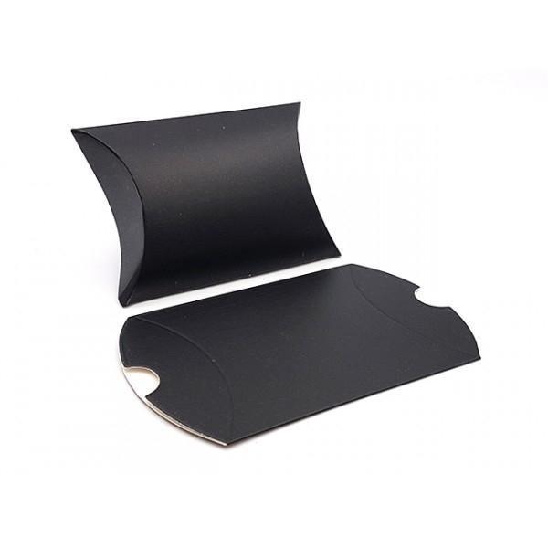 10 Pochettes Berlingots Emballages Bijoux Couleur Noir 9x7cm - Photo n°1