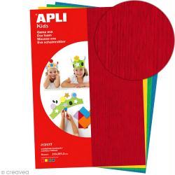 Feuille de mousse effet serviette - Assortiment multicolore - 4 feuilles A4