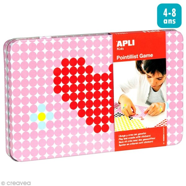 Kit gommettes Coeur - 1440 pcs - Photo n°1