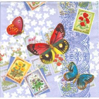 4 Serviettes en papierPapillon Souvenir Format Lunch