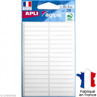 Stickers étiquettes Rectangulaires Blanc - 5 x 3,5 cm - 238 pcs