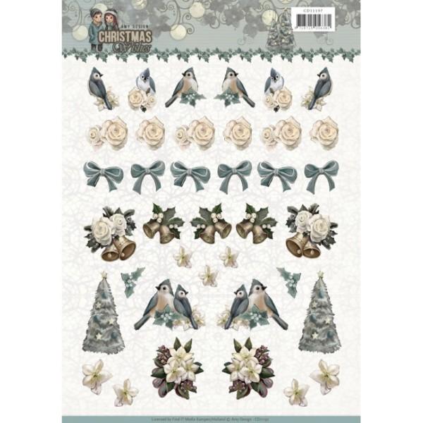 Carte 3D à découper - CD11182 - Christmas wishes - Mini décorations pour Noël - Photo n°1