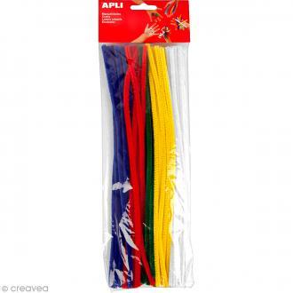 Fil chenille Multicolore - 30 cm - 50 pcs