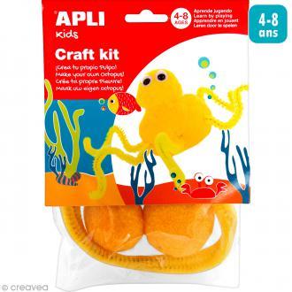 Kit créatif pompons Poulpe