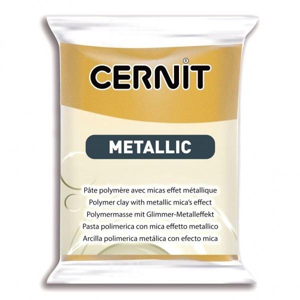 1 pain 56g pate Cernit Metallic Or Riche - Photo n°1