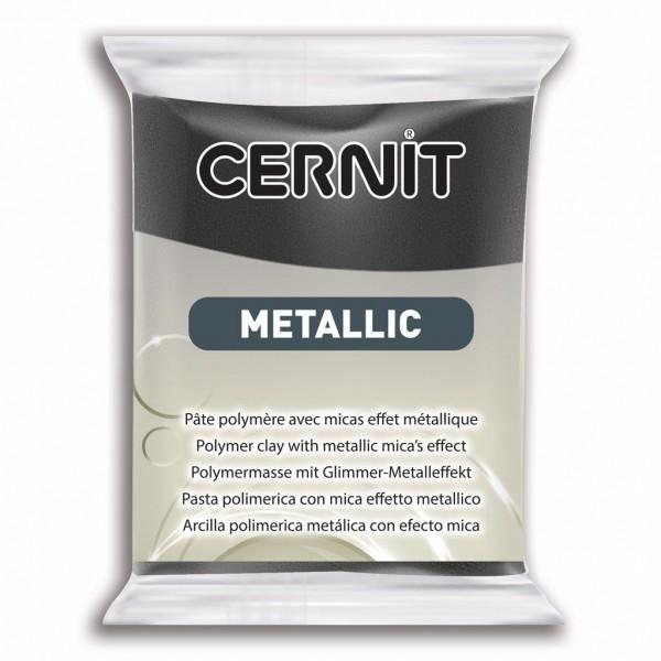 1 pain 56g pate Cernit Metallic Hematite - Photo n°1