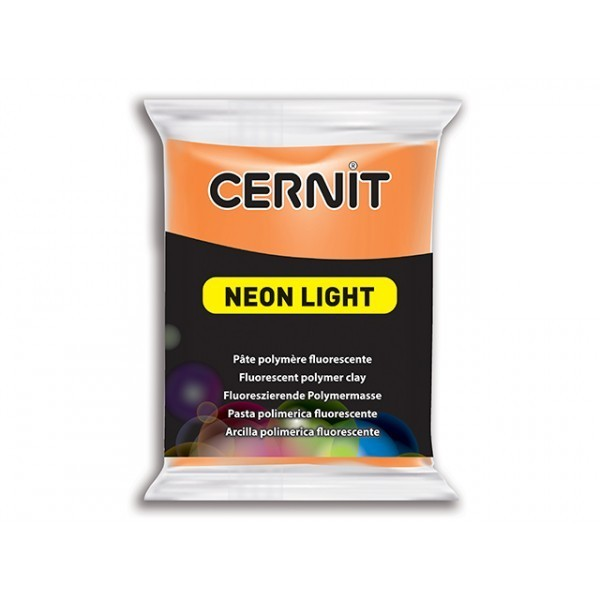 1 pain 56g pate Cernit Neon Orange - Photo n°1