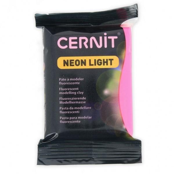 1 pain 56g pate Cernit Neon Fuschia - Photo n°1
