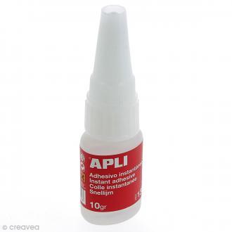 Colle instantanée Super adhésive - 10 g - 1 tube