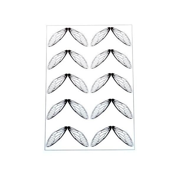 S11105880 PAX de 2 Planches imprimées d'ailes de papillons pour bijoux résine - Photo n°1