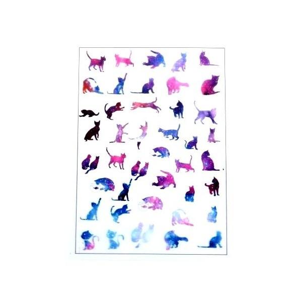 PS110105885 PAX de 1 Planche imprimées Chat pour bijoux résine - Photo n°1