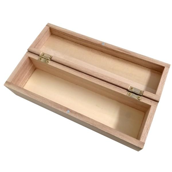 Boîte plumier en bois à décorer - 18,5 x 4,5 x 3,7 cm - Photo n°2