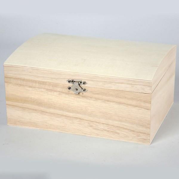 Boîte coffre en bois à décorer - 20 x 14 x 9 cm - Photo n°2