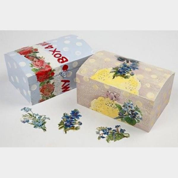 Petite boîte coffre en bois à décorer - 15 x 9,5 x 5 cm - Photo n°3