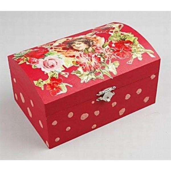 Petite boîte coffre en bois à décorer - 15 x 9,5 x 5 cm - Photo n°4
