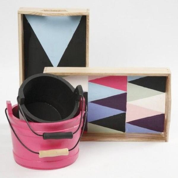 Petit plateau rectangulaire en bois à décorer - 30 x 17 x 5 cm - Photo n°5